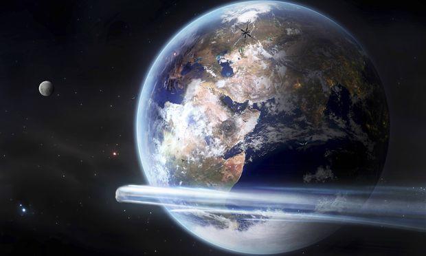 Symbolbild: Ein Komet passiert die Erde.