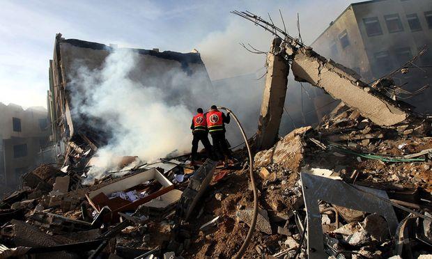 Truemmer Gaza Raketen israelische