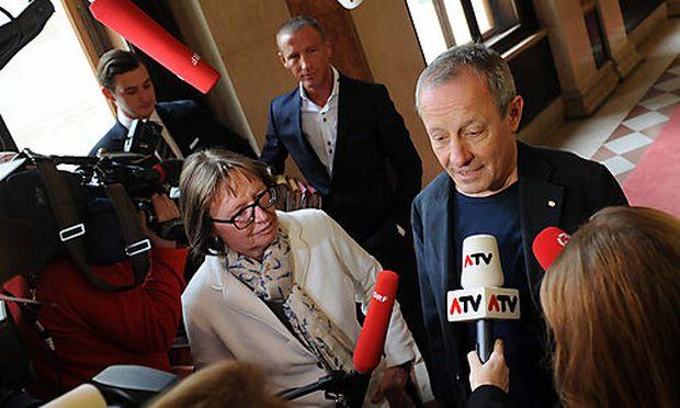 Telekom Untersuchungsausschuss im Parlament  Pilz, Petzner, Moser  Foto: Clemens Fabry