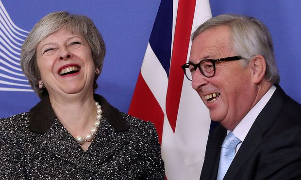 Juncker and May discuss Brexit in Brussels