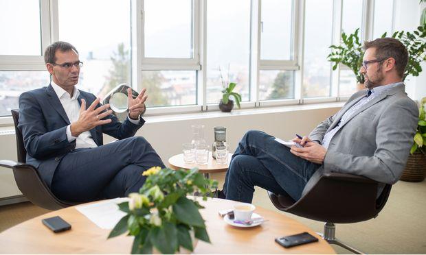 """""""Wir sehen in der Digitalisierung eine große Chance für Vorarlbergs Wirtschaft"""", sagt Landeshauptmann Markus Wallner. / Bild: (C) Frederick Sams"""