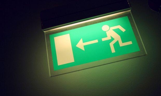 Schild eines Fluchtweges