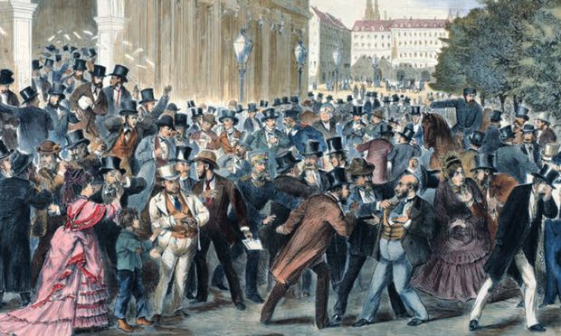 Der große (Börsen-)Krach vom 9. Mai 1873 beendete die Wachstumsjahre der Gründerzeit.