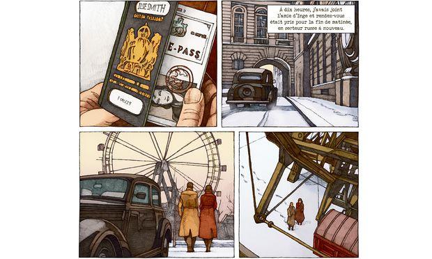 """Mit einem falschen Pass in den Prater, zu einem Geheimtreffen im Riesenrad: Die belgische Graphic Novel """"Le Coup de Prague"""" erzählt verwegen die Entstehungsgeschichte des Films """"Der dritte Mann"""" neu."""
