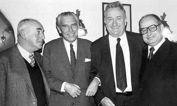 Vier Chefredakteure:  Schulmeister, Dubrović, Molden, Chorherr (von links).