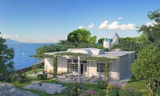 Astronomischer Hingucker: Haus mit ehemaliger Sternwarte auf Capri.