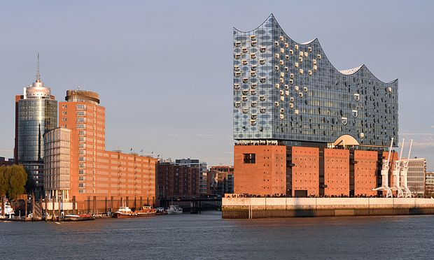 View at Philharmonic Hall in Hamburg