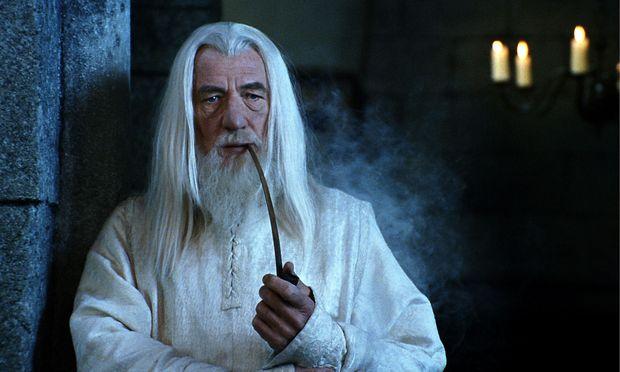 """Mit Zauberer Gandalf kann man Kollegen das """"Guten Morgen"""" verleiden."""
