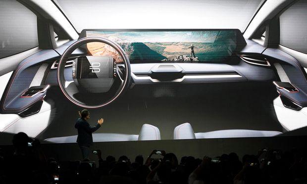 Große Bühne: Das chinesische Start-up Byton zielt mit E-Autos auf Europa.