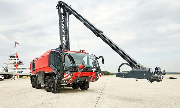 Feuerwehrautos aus Oberösterreich waren schon stärker gefragt.