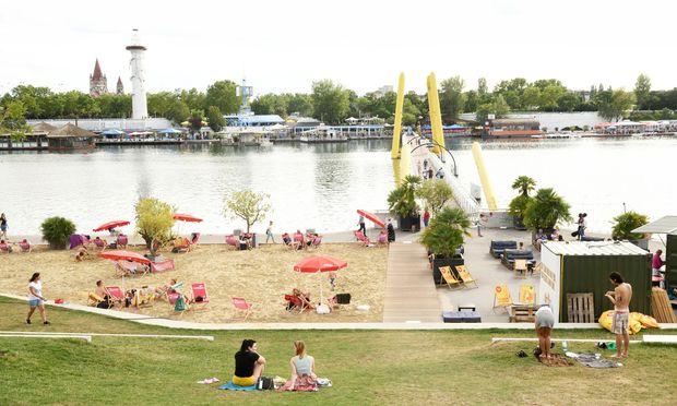 Luft nach oben: Der neue Copa Beach an der Neuen Donau ist von den Wienern noch nicht richtig angenommen.