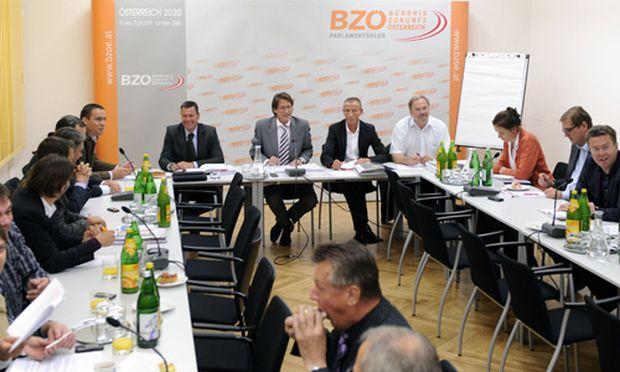 Die BZÖ-Vorstandssitzung am Mittwoch, 14. Oktober 2009