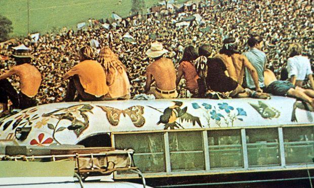 Das Woodstock-Festival im August 1969 in Bethel.