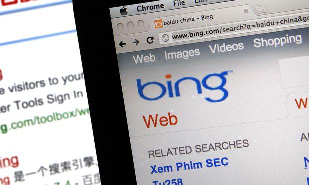 Suchmaschinen Microsoft Bing rutscht