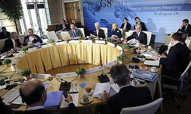 Treffen der Außenminister der G-8-Staaten