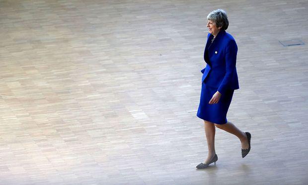 Theresa May warb am EU-Gipfel mit den Staats- und Regierungschefs für eine Verlängerung des Brexit.
