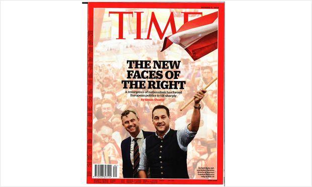 Hofer und Strache sind für das ''Time''-Magazin die ''neuen Gesichter der Rechten''