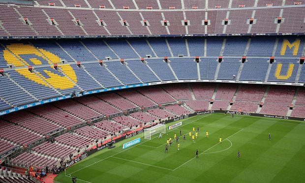 Leeres Camp Nou