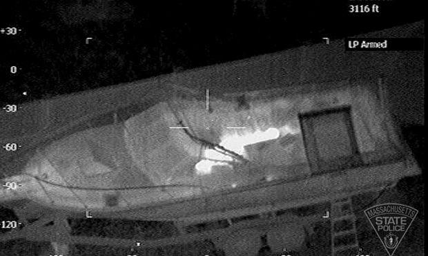 In diesem Boot hatte sich D. Tsarnaev verschanzt