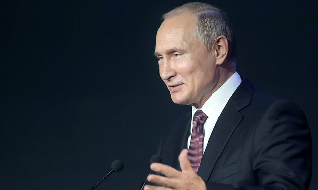 Russia's President Putin attends the International Cybersecurity Congress in Moscow