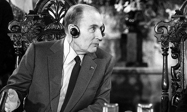 Frankreichs Staatspräsident François Mitterrand