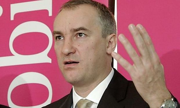 T-mobile Austria CEO Chvatal reacts after presenting the business report for 2011 in Vienna