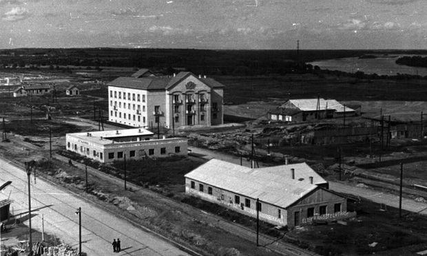 Blick auf das alte Haus der Kommunistischen Partei