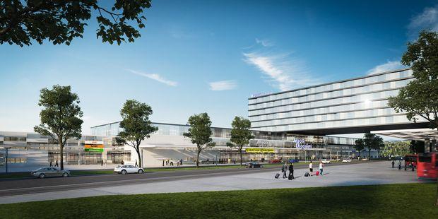 """Rund um den neuen Klagenfurter Flughafenkomplex soll mit """"Aviation City"""" auch ein neuer Stadtteil entstehen"""