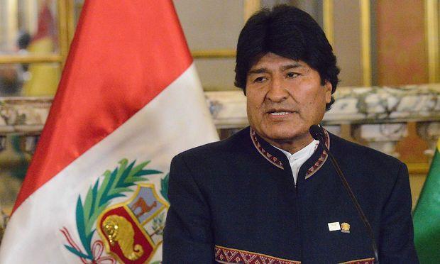 Der bolivianische Präsident, Evo Morales.