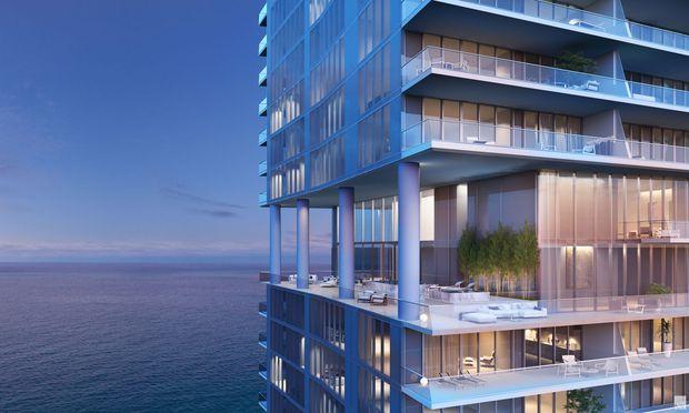 D Residence in Miamis legendärer Collins Avenue.