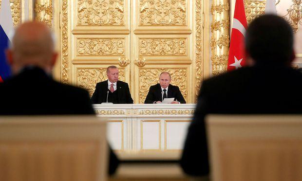 Der türkische Präsident Erdogan und Amtskollege Wladimir Putin.