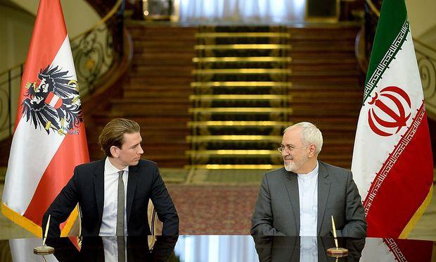 Sebastian Kurz mit dem iranischen Außenminister Zarif.