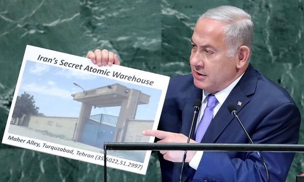 Israeli Prime Minister Netanyahu addresses the 73rd session of the United Nations General Assembly at U.N. headquarters in New York