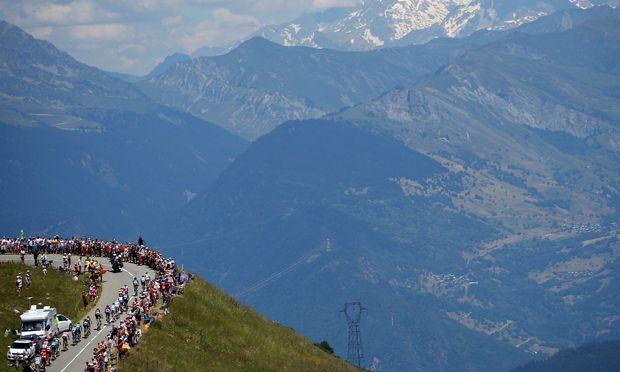 Frankreichs Gletscherpanorama als ständiger Begleiter: Wer heuer die Tour de France gewinnen will, muss hoch hinaus.