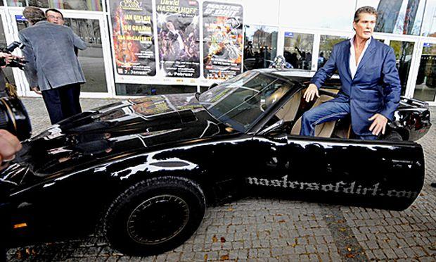 David Hasselhoff zu seinem Tourneeauftakt vor der Wiener Stadthalle.