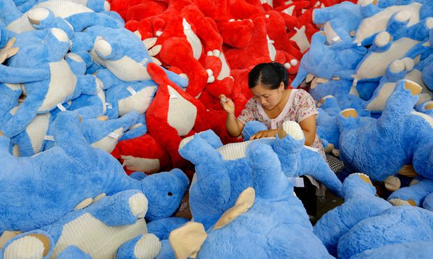 """Genug Arbeit? Die schwächere Konjunktur bringt China """"Herausforderungen"""". / Bild: (c) APA/AFP/STR"""