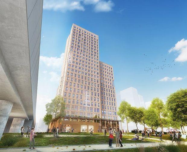In der Seestadt Aspern wird das erste Holz-Hochhaus ´Hoho´ gebaut.