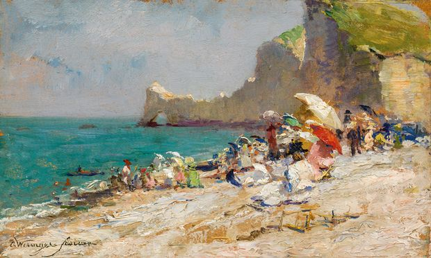 """Olga Wisinger-Florian: """"Der Strand von Etretat"""", 1893/94."""