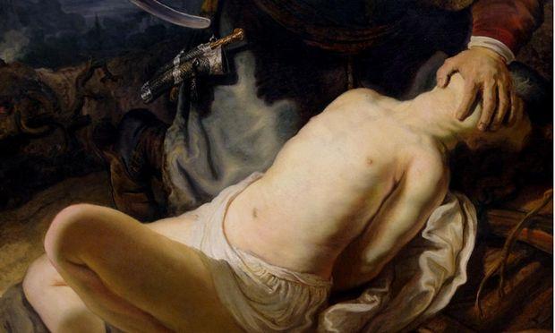 Die Opferung Isaaks, 1635 gemalt von Rembrandt. Im Koran ist Abrahams erster Sohn, Ismael, der wichtigere. In der islamischen Tradition ist er es auch, der geopfert werden soll.