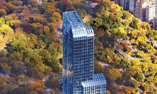 """Der """"One57"""" bietet den gut betuchten Bewohnern einen großartigen Ausblick über den Central Park.  / Bild: Evan Joseph/ Extell Development"""