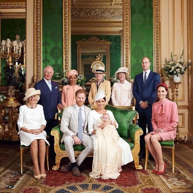 Taufe im kleinen Kreis - eines der vom Buckingham-Palast veröffentlichten Fotos