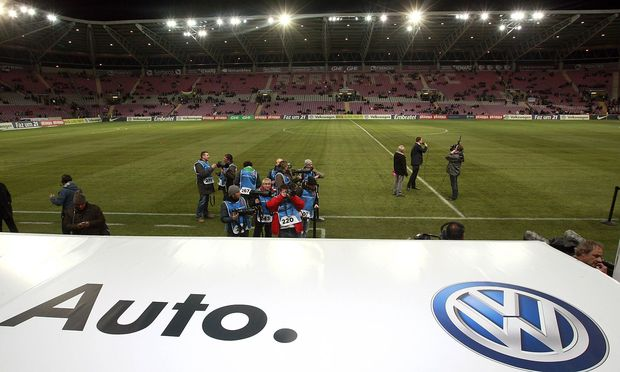A detailed for of Volkswagen VW before the game International friendly Stade Geneve Geneva Sw