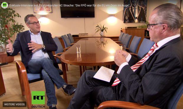 Heinz-Christian Strache im Interview mit RT-Moderator Thomas Fasbender