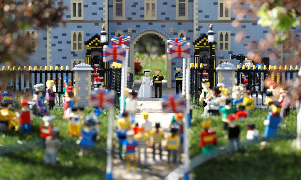 A LEGO Windsor Castle replete with the upcoming wedding between Britain´s Prince Harry and Meghan Markle, is seen at Legoland, in Windsor