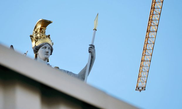Was kommt? Parlamentsbaustelle, Wien. / Bild: (c) Wolfgang Freitag