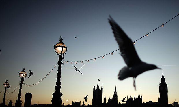 Europa-Dämmerung in Westminster: Der Abschied von der EU fällt den Briten alles andere als leicht.