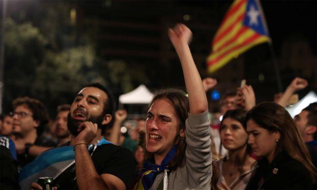 Zwei Millionen Katalanen gaben ihre Stimme ab, sie wollen einen unabhängigen Staat.