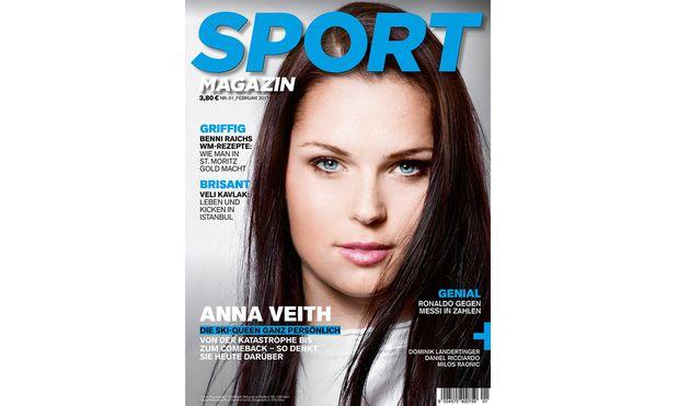 Sportmagazin-Cover mit Anna Veith