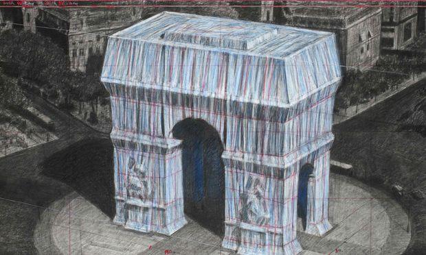 Die Zeichnung des Arc de Triomphe Projekts