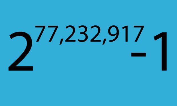 Größte Primzahl der Welt berechnet